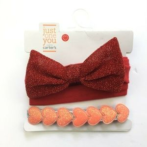 New Just One You Carters Headbands Baby Infant Red